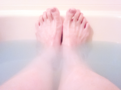 お風呂であたたまる